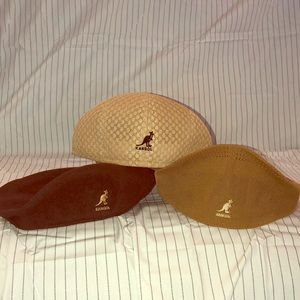 Lot of 3 Vintage Kangol Hats Including One Wool